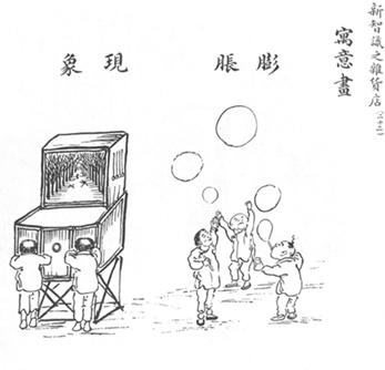 10. 〈新智識之雜貨店(二十二)寓意畫:膨脹現象〉,《圖畫日報》第22號第9頁,1909年9月。取自北京愛如生數字化技術研究中心出品之數據庫。